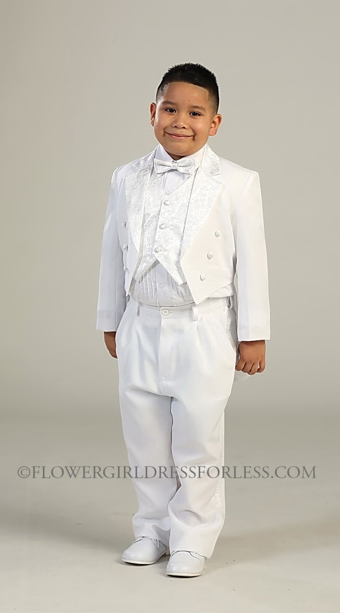 White boys first holy communion suits flower girl dress for less