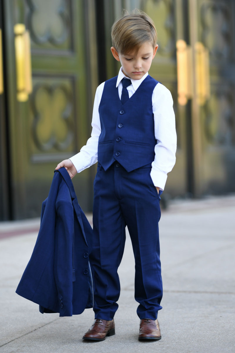 Calla Collection USA 5 Pieces Boy Suit with Vest