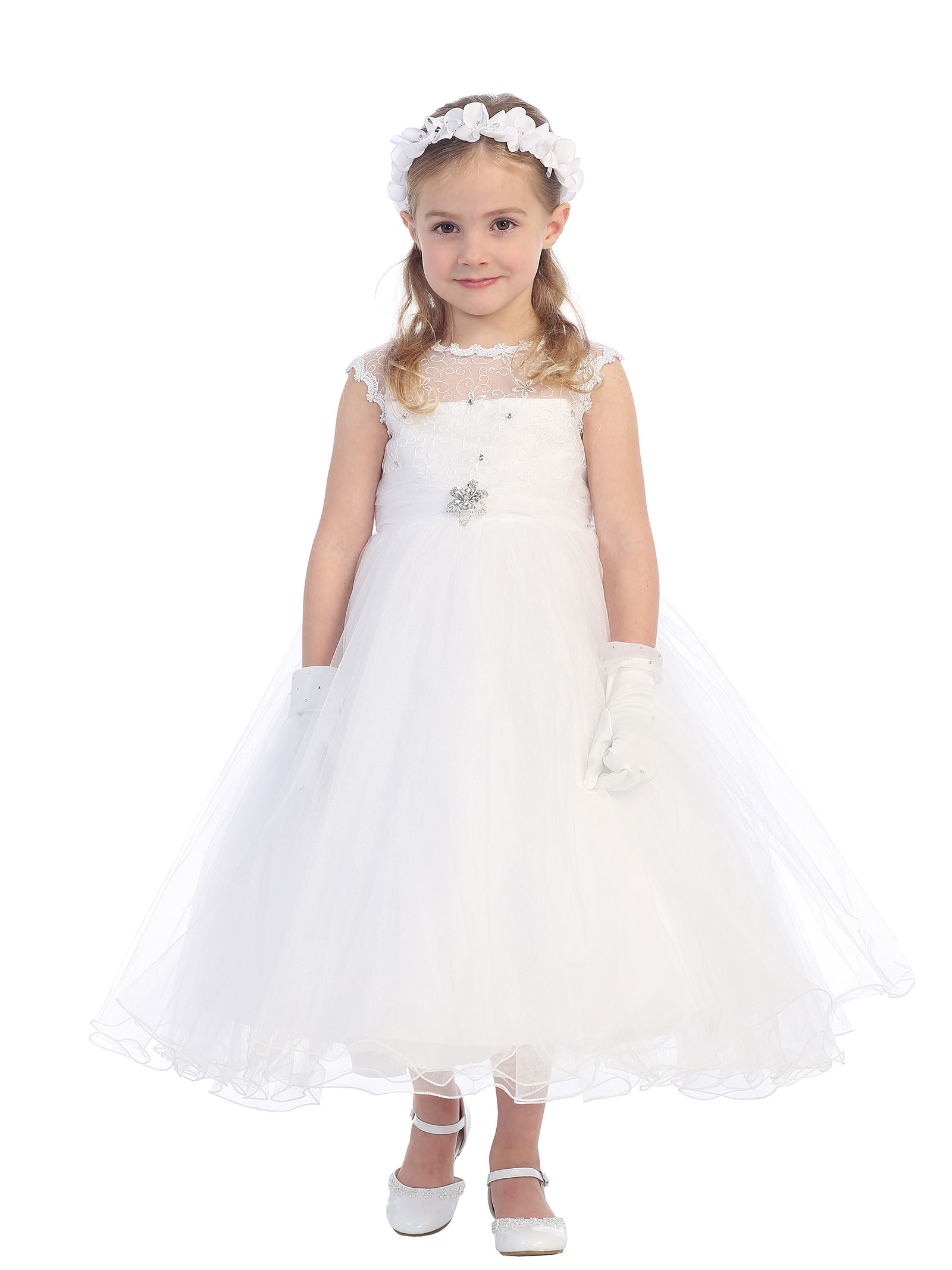 Tt 5651w Girls Dress Style 5651 In Choice Of Color