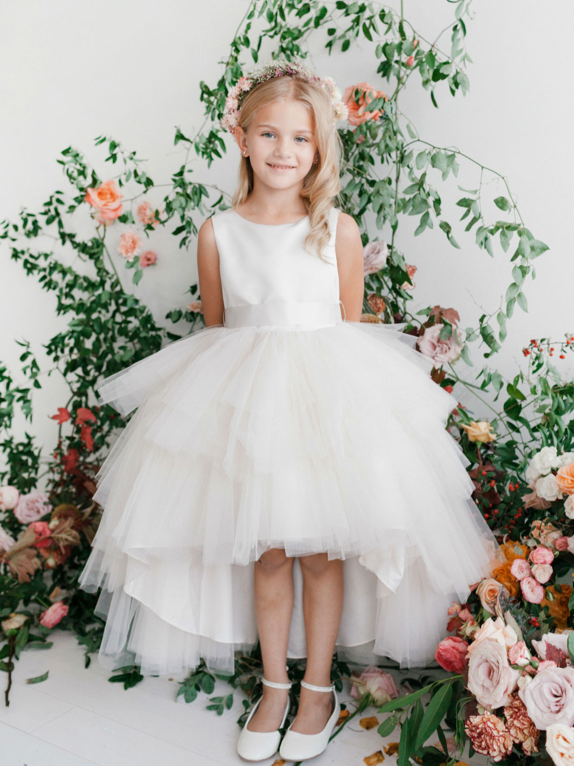 TT 5658IV 17 Girls Dress Style 5658 Satin and Tulle