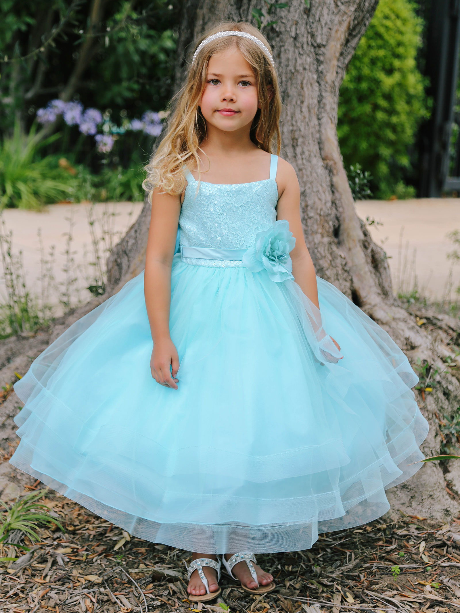TT_5662AQ - Girls Dress Style 5662- Sequin Lace and Tulle Horsehair ...