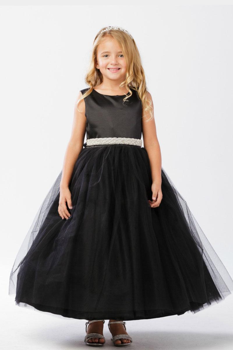 Tt 5700b Flower Girl Dress Style 5700 Black Sleeveless