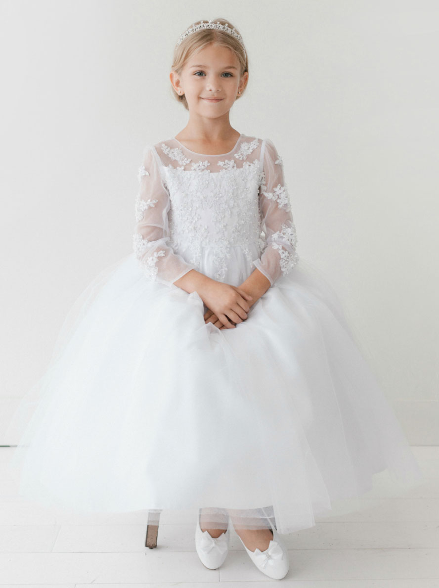 Tt 5705 Girls Dress Style 5705 Dress With Floral