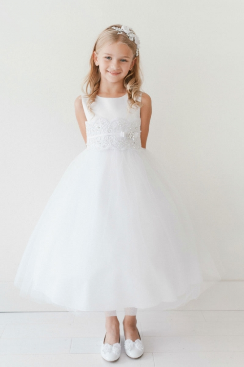 a44771fa5060 TT_5718 - Girls Dress Style 5718 - Sleeveless Dress with Banded Lace ...