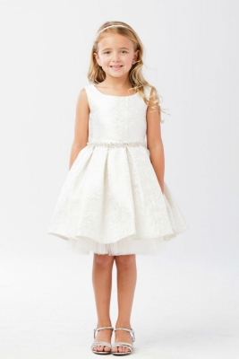 6285d35ec9c Girls Dress Style 5734 -Jacquard Sleeveless Box Pleat Short Dress in Choice  of Color