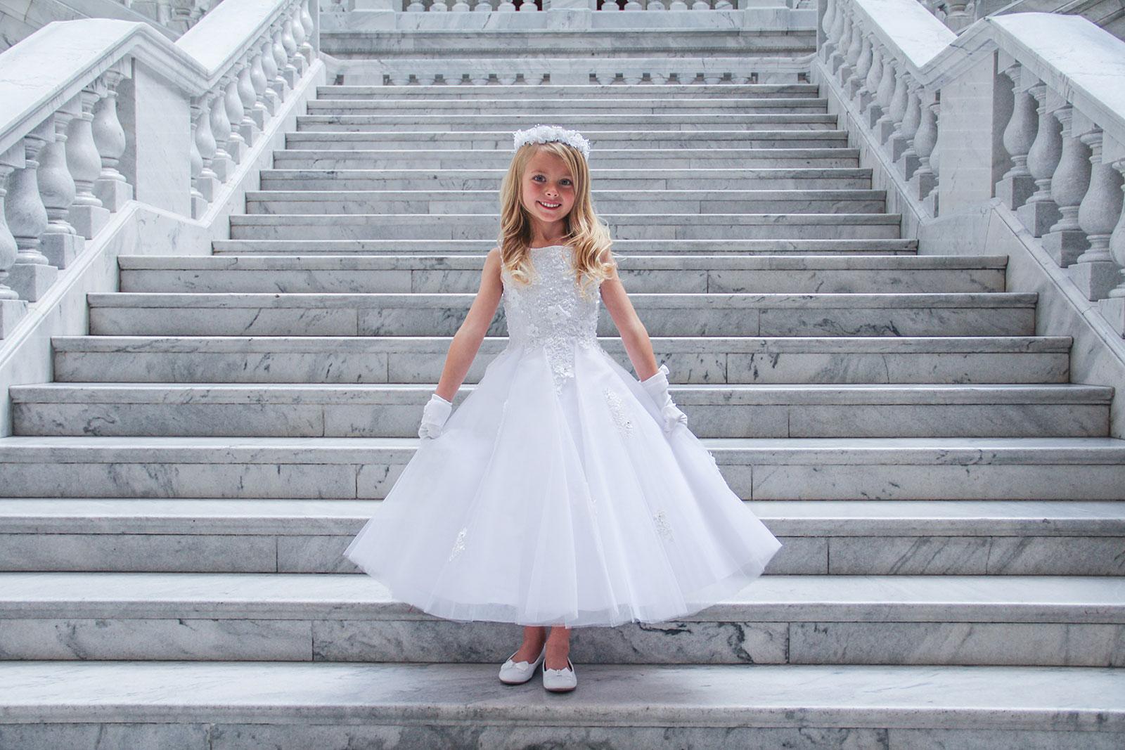 TT_5740 - Girls Dress Style 5740 -WHITE Sleeveless Beaded ...