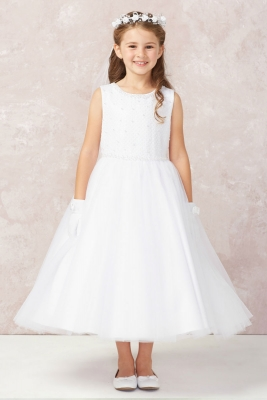 3ad1c5cef81f Girls Dress Style 5752 - Sleeveless Embroidered Beaded Gown in Choice of  Color