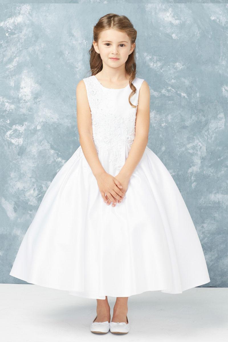 Tt 5765w Girls Dress Style 5765 Sleeveless Embroidered