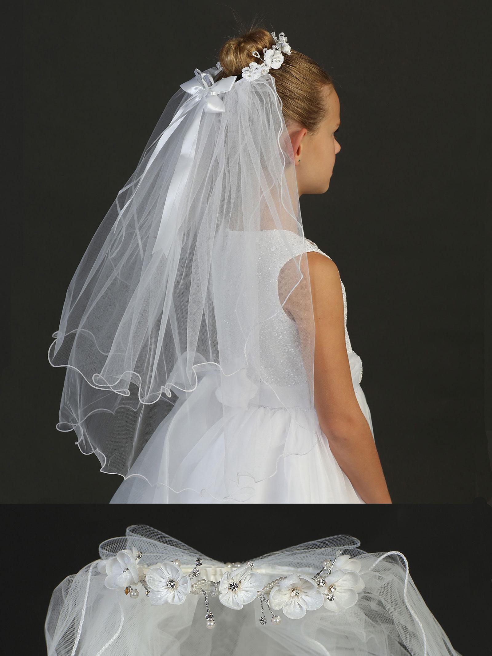 TT 752 Girls Bun Wrap Style 752 Hair Bun Wraps Flower Girl Dresses