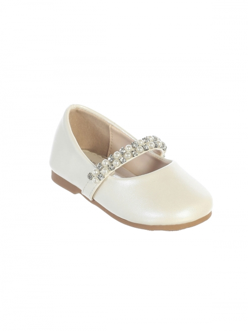 7e7e9c90d847 Girls Shoe Style S116 - Infant and Toddler Shoe with Rhinestone and Pearl  Strap in Choice