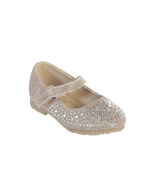 Toddler Girls/' Dress Shoes Crown Accent Rhinestone Mary Jane Shoes Ballet Flats