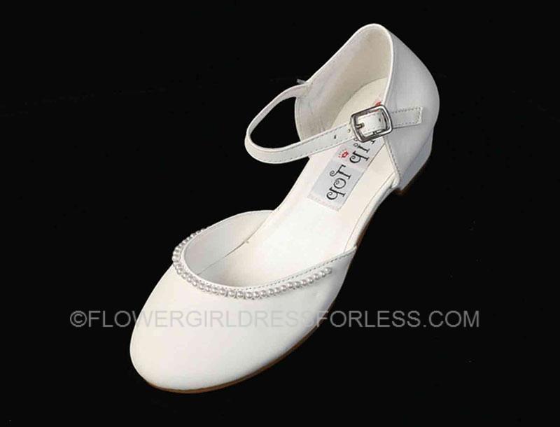 Tts70 flower girl shoe style s70 white soft patent shoe with tts70 flower girl shoe style s70 white soft patent shoe with pearl detailing shoes flower girl dresses flower girl dress for less mightylinksfo
