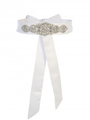 3941cb3c5b0 Girls Dress Rhinestone Sash- Style SASH-6 - Satin Belt In Choice of Color