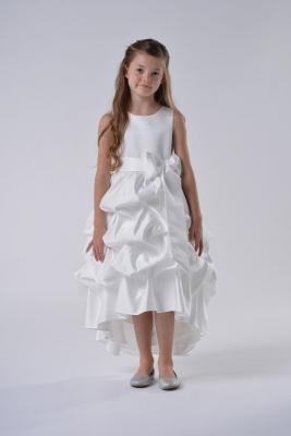 2059f3ac9d Us Angels Flower Girl Dress Style 119- Satin High Low Pickup Dress