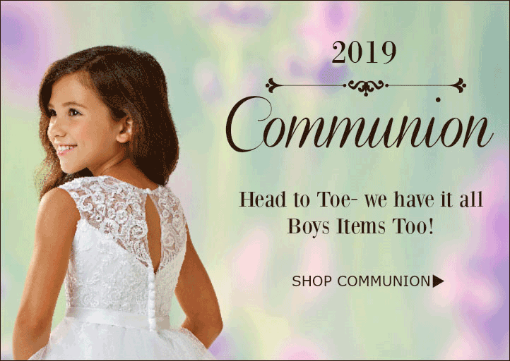 459ff195 Communion Dresses for 2019. Shop accessories for flower girls ...