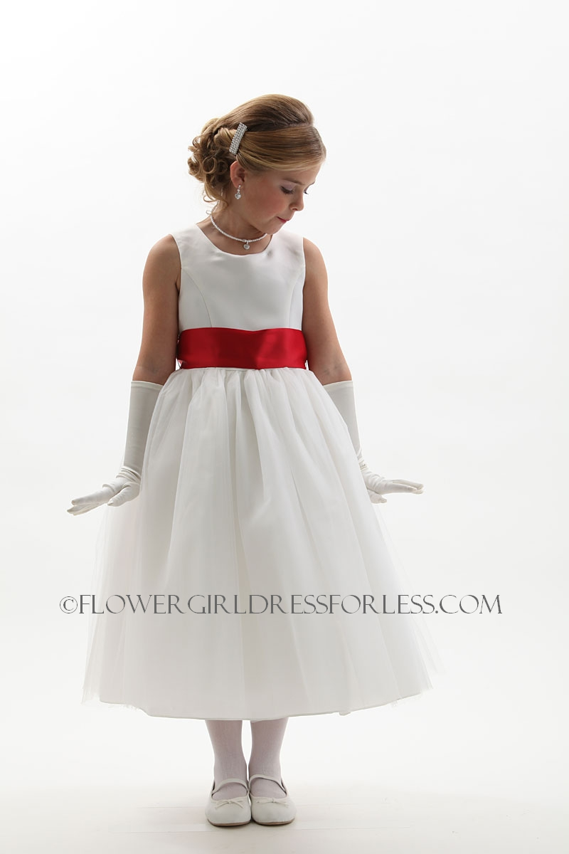 Tt5700iar Flower Girl Dress Style 5700 White Or Ivory Dress With