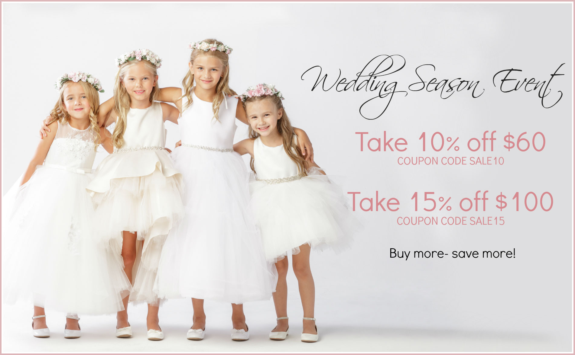 Flower girl dresses flower girl dress for less wedding season sale event girls dresses mightylinksfo