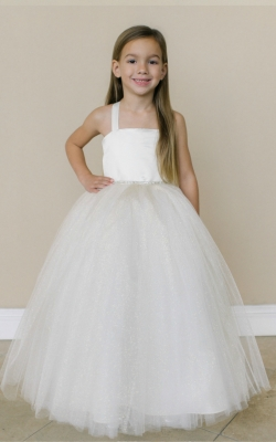aa5e7153ddbb Flower Girl Dress Style FG102- SALE Ivory size 8 (1 piece available)