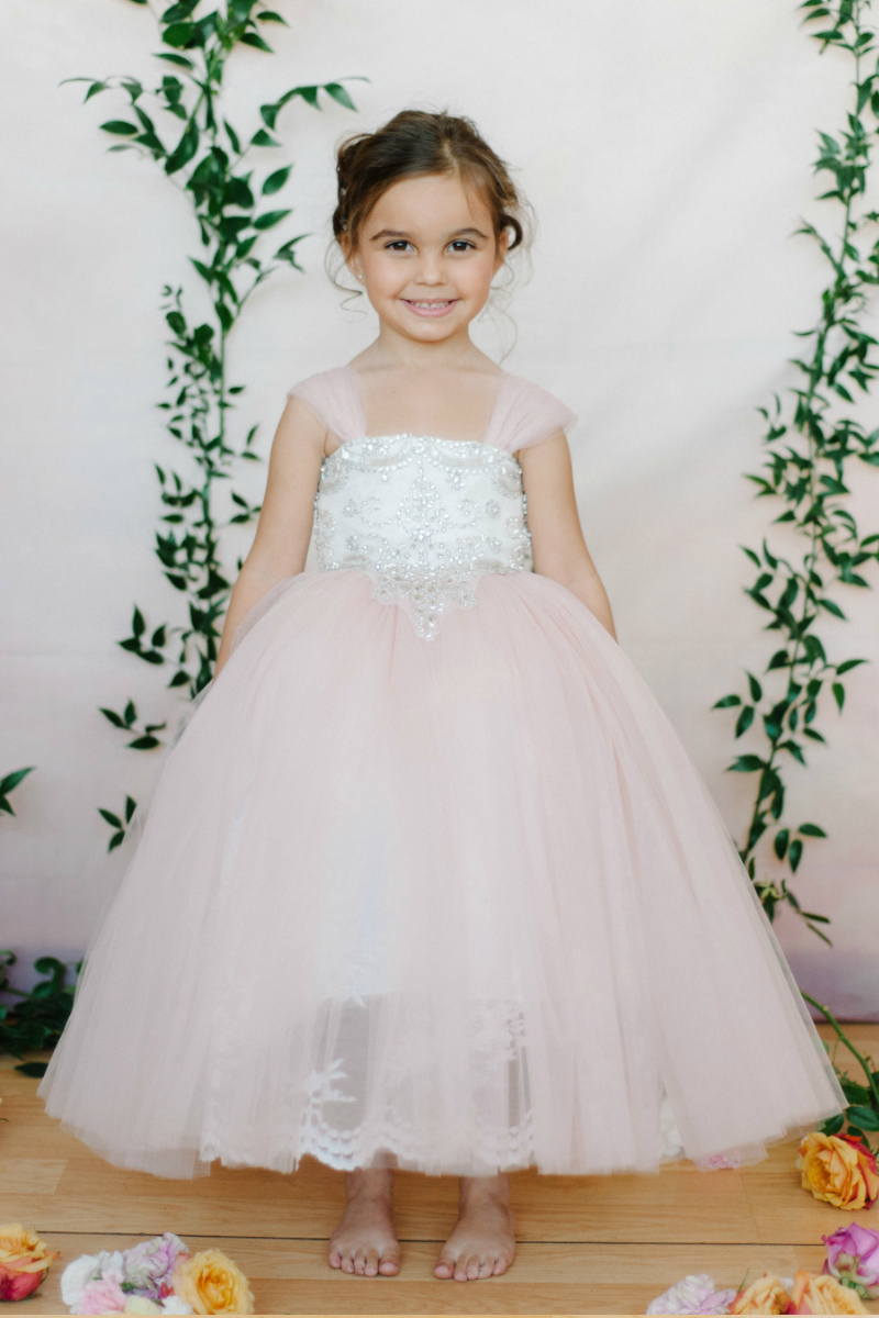fff46d6077a Designer Amalee Girls Dress Style FG127 - Tulle and Beaded Ball Gown in Choice  of Color