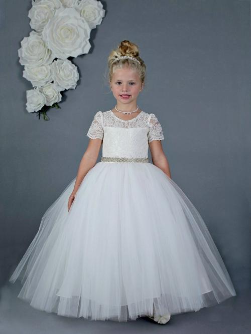 AM_FG133-CAP - Designer Amalee Girls Dress Style FG133-CAP- Short ...