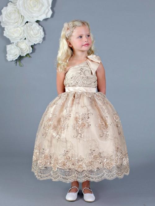974bfaa8309 AM FG153CH - Designer Amalee Girls Dress Style FG153- One Shoulder ...