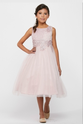 bd32d93fef0 Girls Dress Style 5009 - Sleeveless Sequin and Lace Dress in Choice of Color
