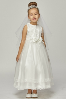 90c2a0fd49c Girls Dress Style 5025 - Sleeveless Lace with Double Layer Skirt Dress in  Choice of Dress