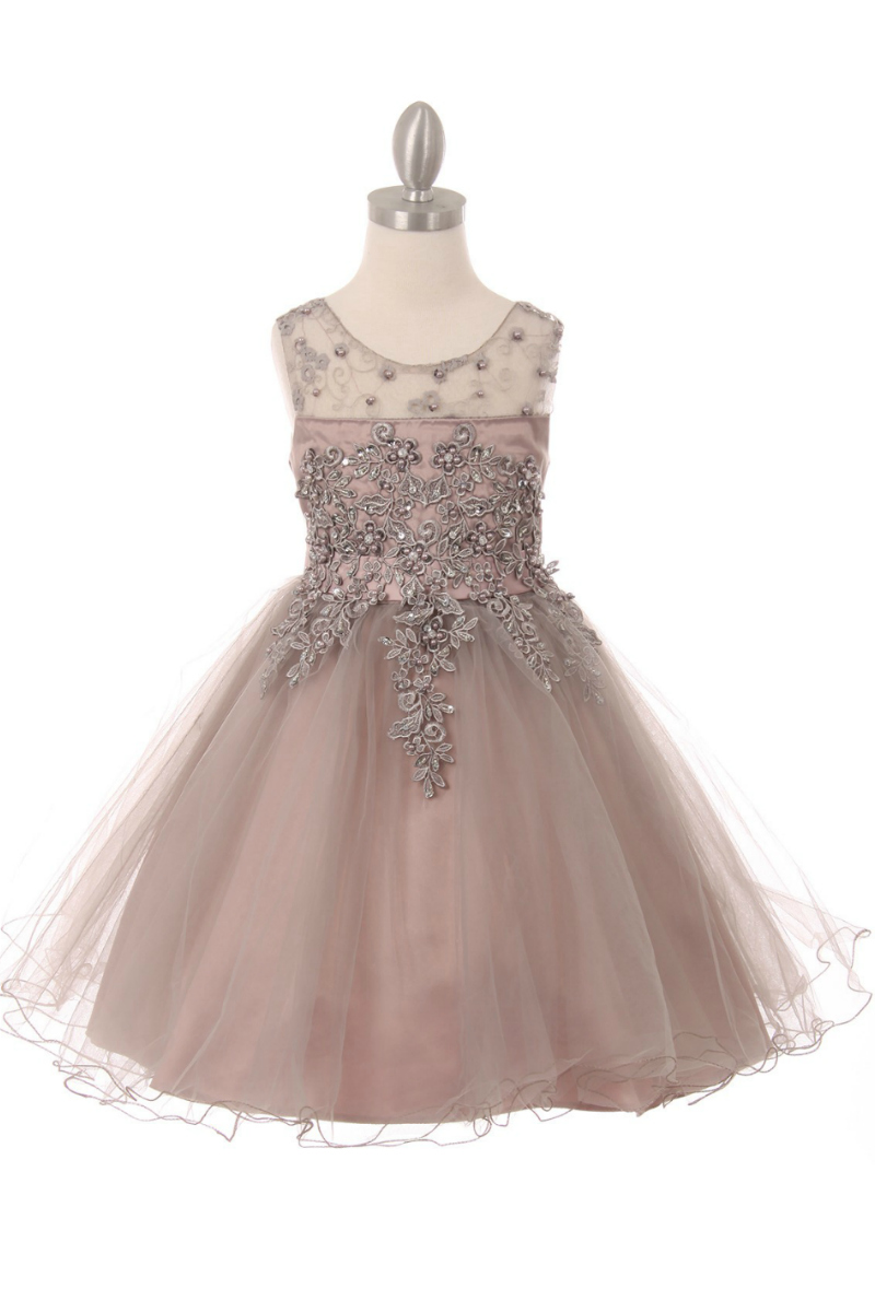 5f07aada7a5 Girls Dress Style 9058 - Sleeveless Embellished Short Party Dress in Choice  of Color