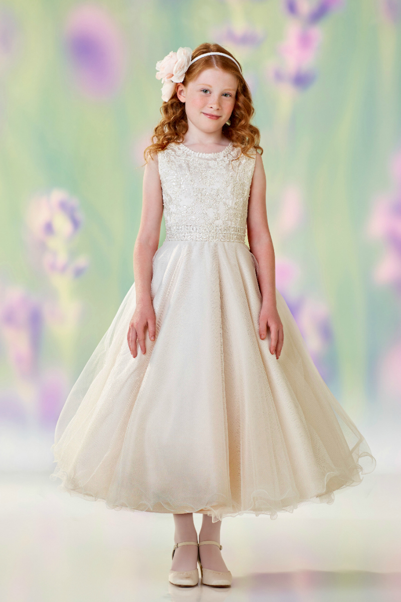 Joan calabrese dresses flower girl dress for less joan calabrese style 118302 sleeveless jewel neckline dress in choice of color ombrellifo Images