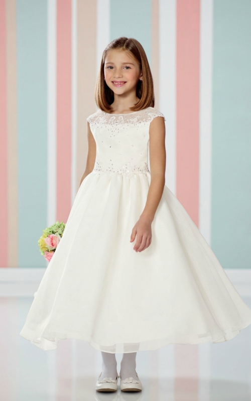 97891e9908a95 JCS_216314_SALE - Joan Calabrese Style 216314 - SALE - Same Day Ship - WHITE  size 10 (1 piece available) - Joan Calabrese - Flower Girl Dresses - Flower  ...