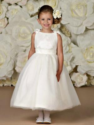 Joan Calabrese Style 29361 Sleeveless Satin Illusion Dress