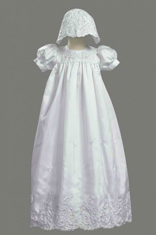 L_2270 - Girls Baptism-Christening Gown Style 2270- Short Sleeved ...