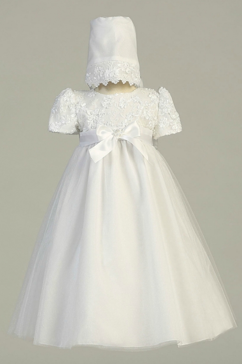L_LILLIAN - Girls Baptism Christening Gown Style LILLIAN- WHITE Gown ...