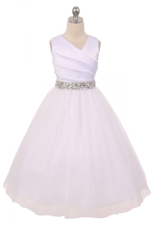 Mb276rh silver flower girl dress style 276rh white or ivory flower girl dress style 276rh white or ivory dress with silver rhinestone belt mightylinksfo