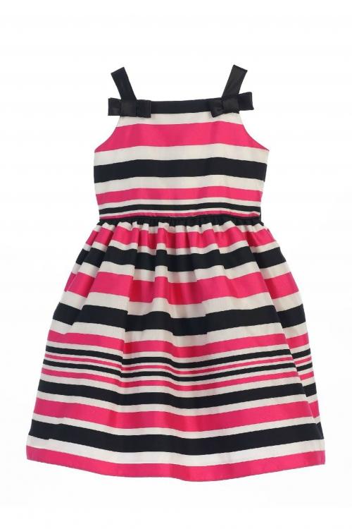 Sk595fus girls dress style 595 fuchsia sleeveless striped girls dress style 595 fuchsia sleeveless striped organza dress mightylinksfo