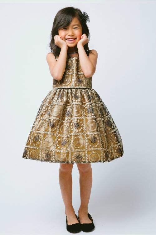 Bronze Flower Girl Dress