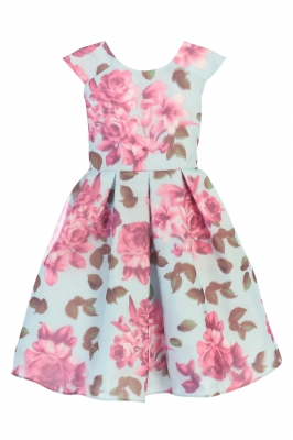 a3536881fd6 Fuchsia. Girls Dress Style 676 - Cap Sleeve Floral Print Dress in Choice of  Color