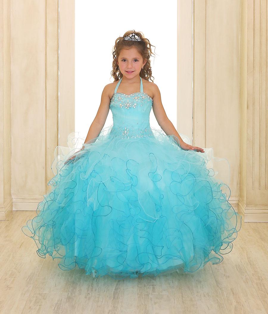 CA_SY107FUS - Girls Dress Style SY107- FUCHSIA Strapless Organza ...