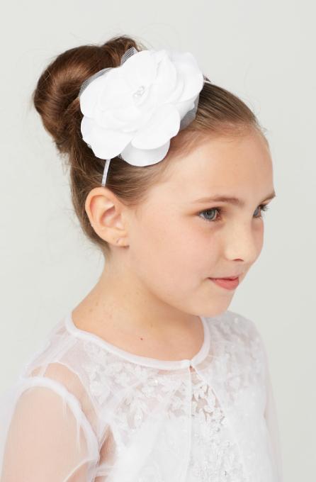 flower girl ivory headband wedding headband Pearl headband dressy headband baby headband formal headband flower girl headband