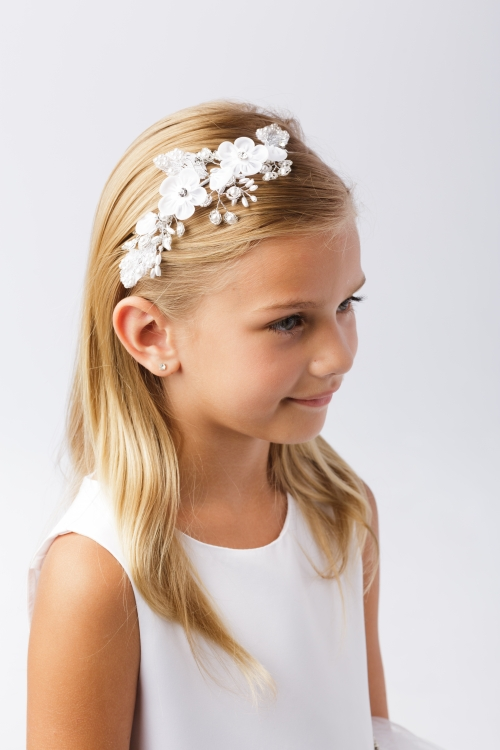 TT 195 - Girls Floral Bridal Quality Headband - Style 195 in Choice of  Color - Tip Top Kids - Flower Girl Dresses - Flower Girl Dress For Less e8460125255