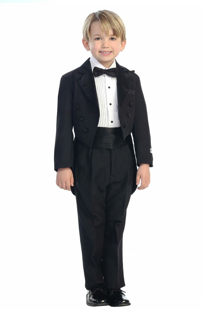fc05be6b7af Boys Suit Style 4001- 5 Piece Tuxedo Set with Tail in Choice of Color