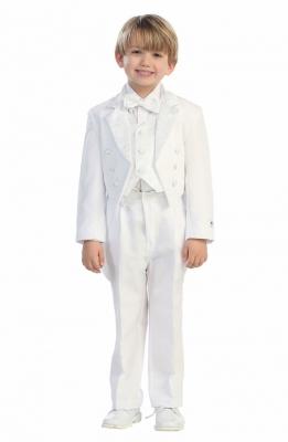 b15fa66682 Boys Suit Style 4013- 5 Piece Tuxedo Tails Set- Choice of Black or White