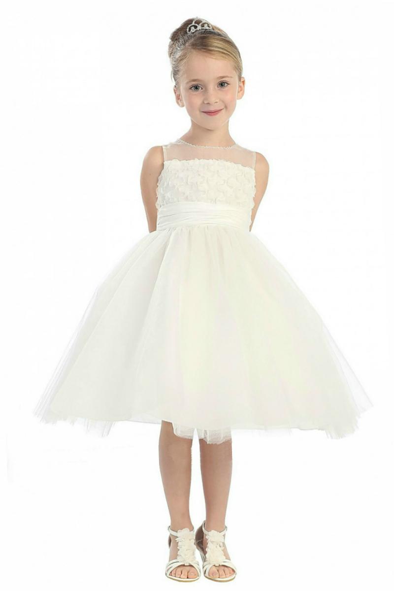 White Flower Girl Dress Flower Girl Dress For Less