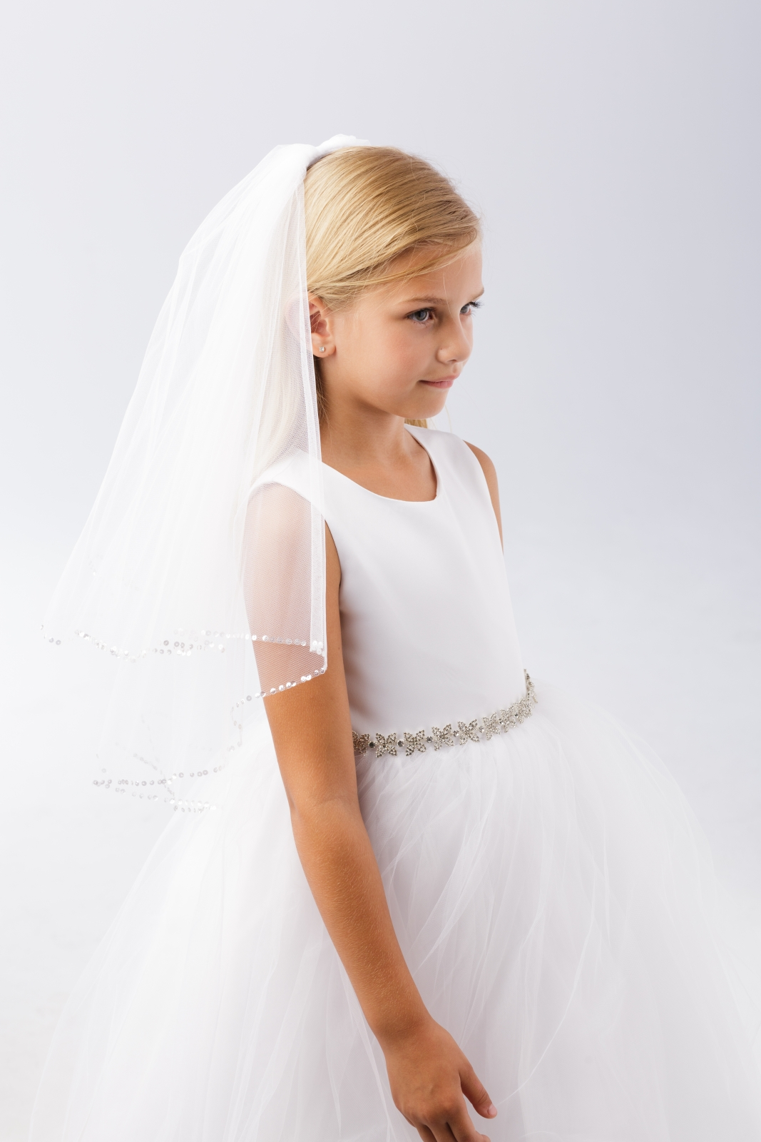 Veils With Just Combs - Flower Girl Dresses - Flower Girl Dress For Less