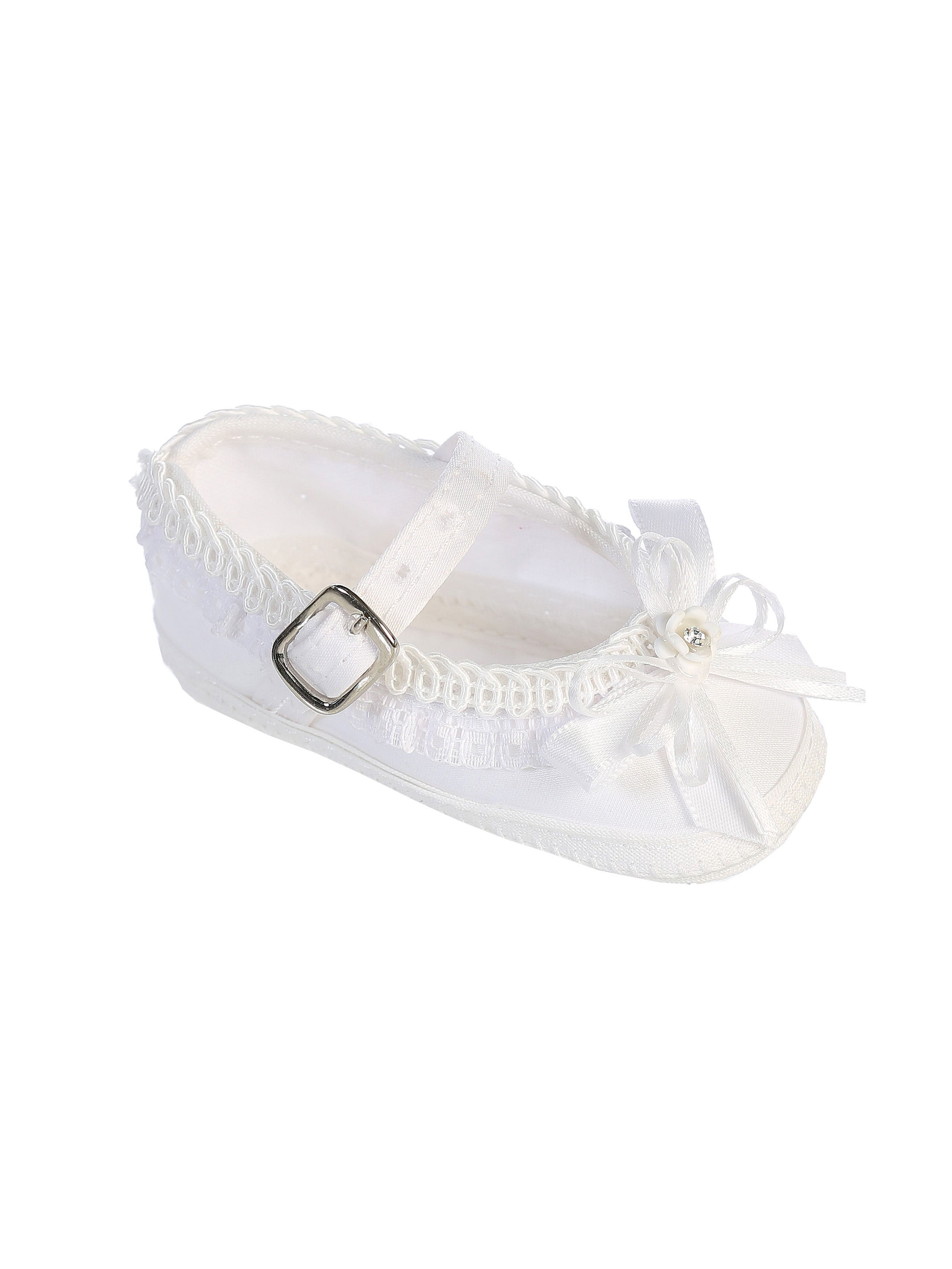TT S3 - Girls Baptism and Christening Shoes- Style S3 White Only - Girls Christening  Shoes - Flower Girl Dresses - Flower Girl Dress For Less ba06edc58090