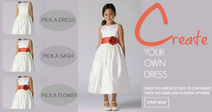 Create your own flower girl dresses online for Own the couture