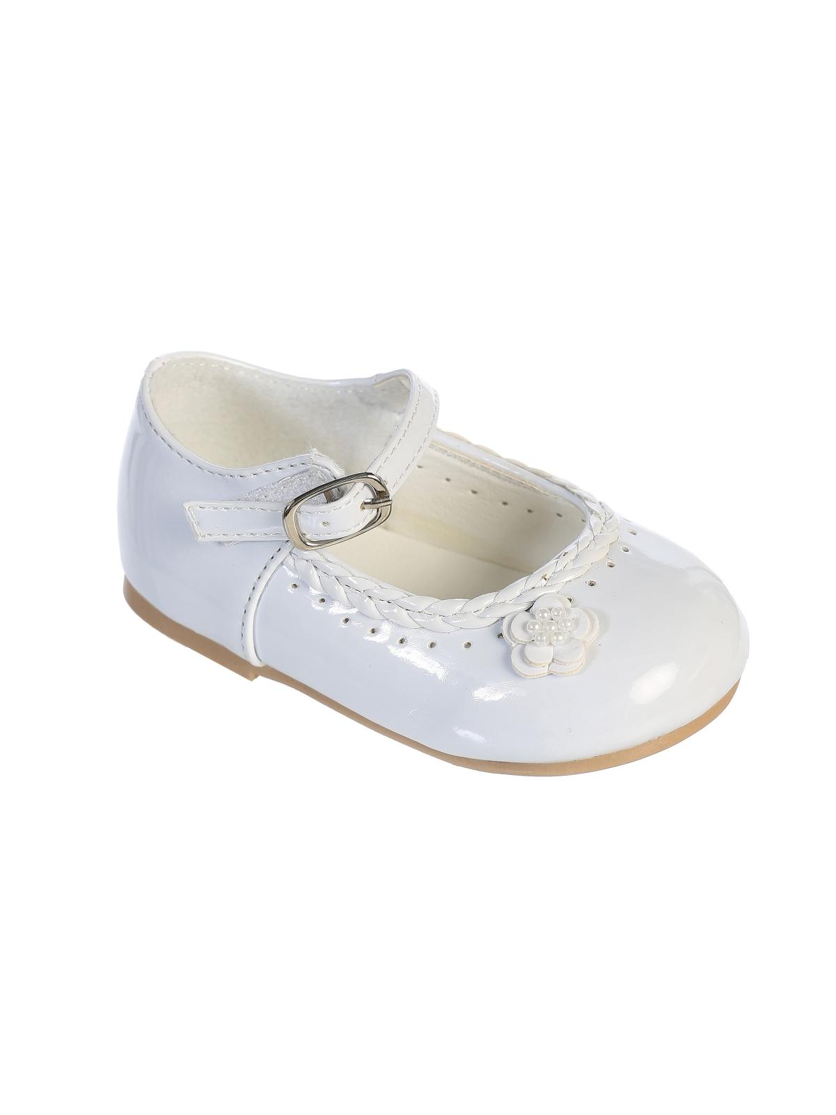 Shoes flower girl dresses flower girl dress for less flower girl shoe style s47 soft patent mary jane shoe with cute flower infant izmirmasajfo
