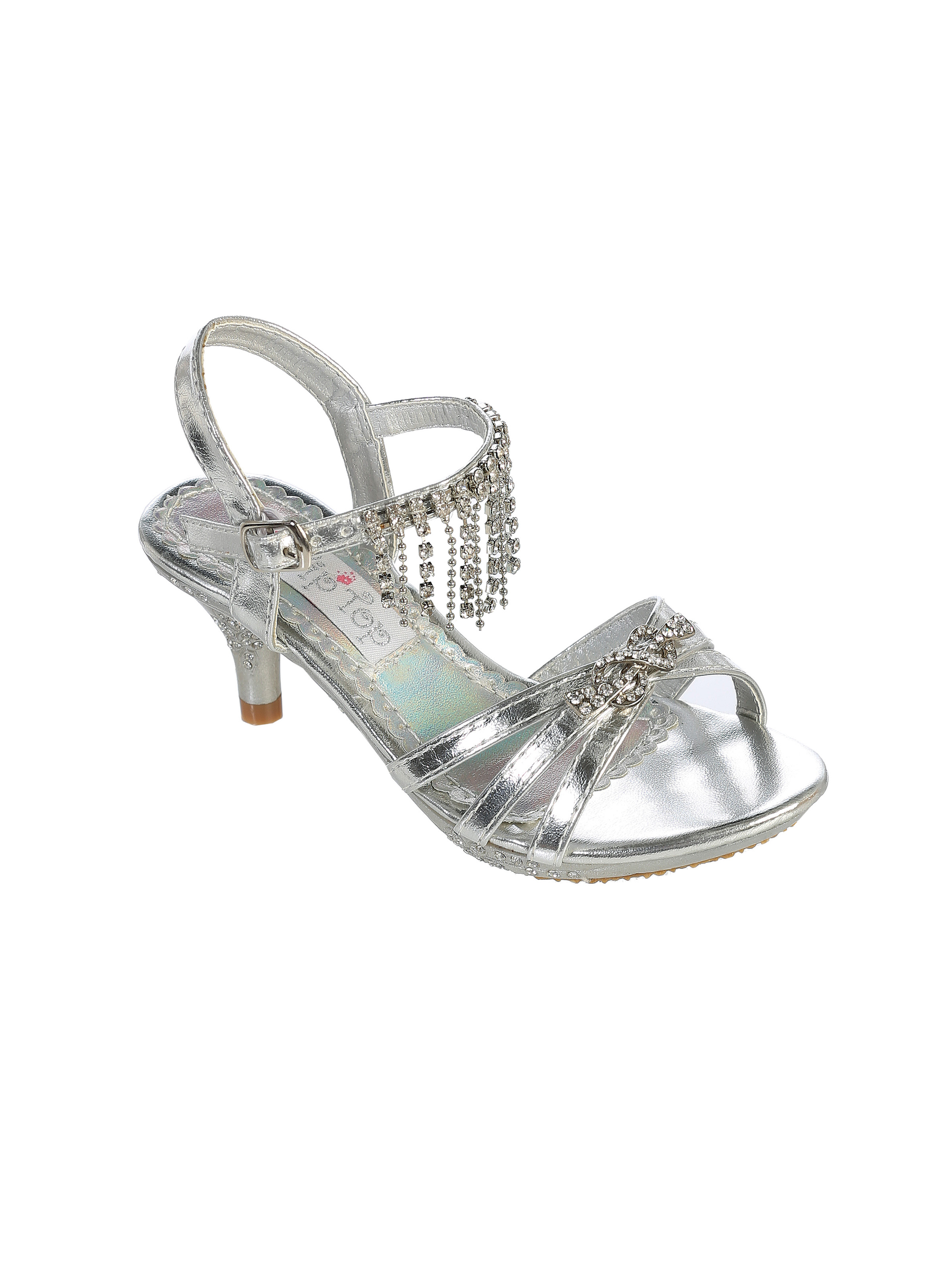 c7a8729ef77e Girls Shoe Style S75 - Strappy Shoe with Rhinestone Detail In Choice of  Color
