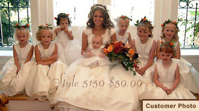 Heather and her flower girls. Featuring style 5150I.