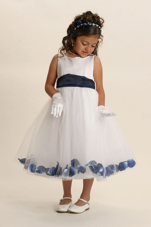 Mb152wnv flower girl dress style 152 choice of white or ivory flower girl dress style 152 choice of white or ivory dress with navy sash and mightylinksfo